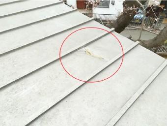 ガルバリウム鋼板は ものがぶつかると簡単に凹んだり、穴が開いたりする