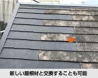 差し替えが可能であれば新しい屋根材と交換することもできます