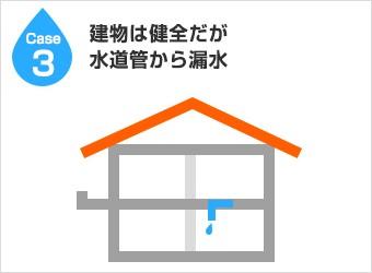 漏水経路3:建物は健全だが水道管から漏水