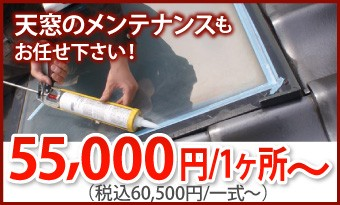 天窓のメンテナンスもお任せ下さい!1ヶ所60500円~