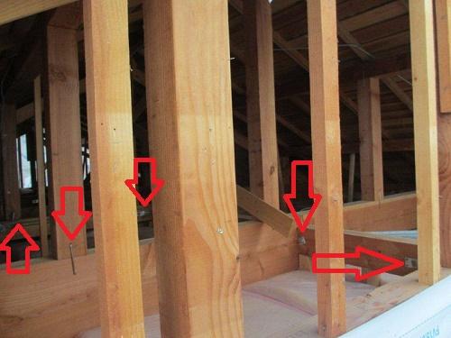 外壁張替工事 構造金具検査