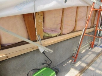 外壁張替工事 外壁下地