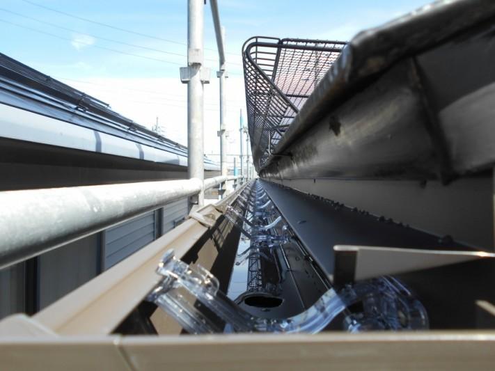 新潟市秋葉区 雨樋の問題解決