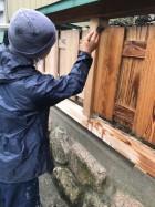 木塀塗装メンテナンス