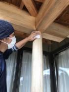 木塀塗装メンテナンス工事
