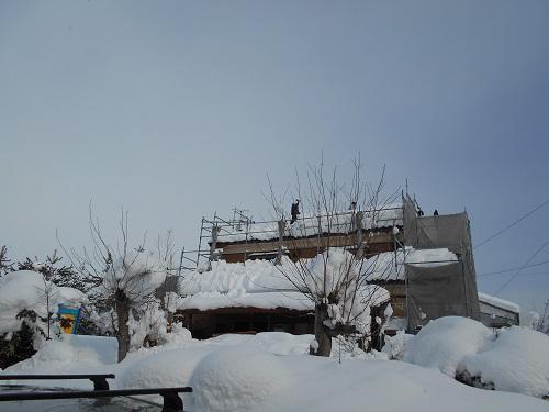 雪 屋根 解体 撤去 瓦