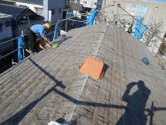 屋根かわら はがし 解体 掃除