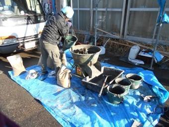 セメント練り 専用機械 水 セメント 砂