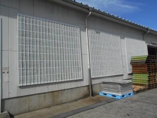 倉庫 メッシュ格子 塗装 全体