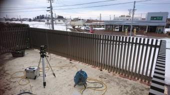 レベル調整 フェンス取り付け