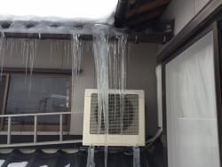 雪害で雨漏れしたお宅を工事