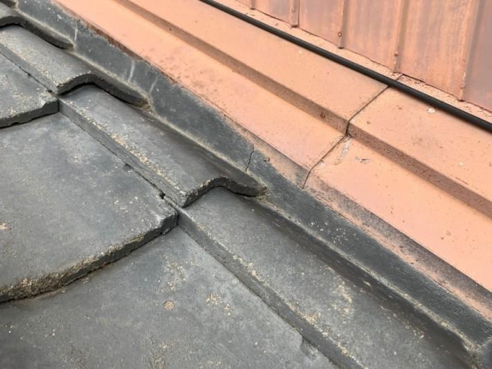 土居串板金に穴があき修繕工事