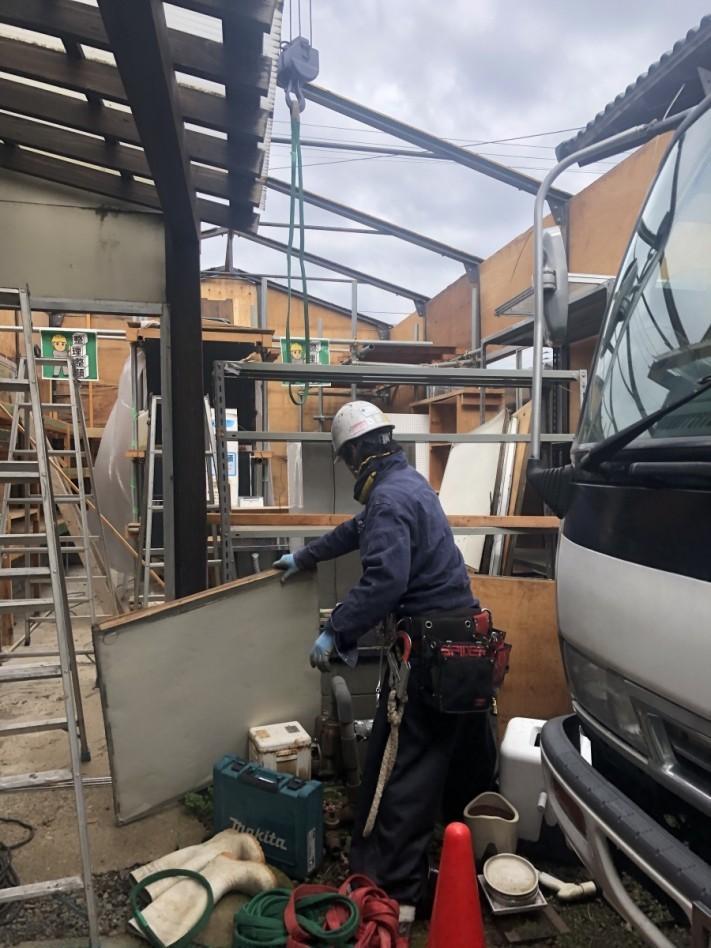 社屋の倉庫建て替え工事