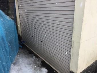 外壁洗浄 シャッター