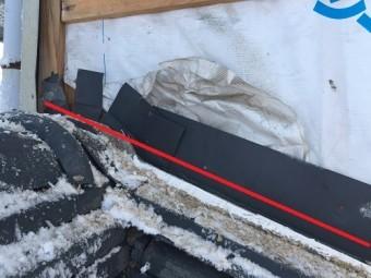 土居棟板金 施工不良 雨漏り 防水紙