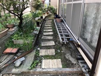 新潟市秋葉区 工事前 養生前