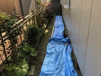 新潟市秋葉区 シート 養生