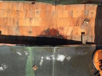 銅板屋根 板金屋根 解体 雨漏り