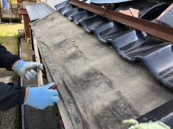 三条市 屋根 解体 補修部分