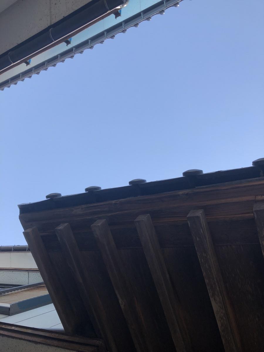 竣工 垂木 表し 三条市 屋根瓦復旧