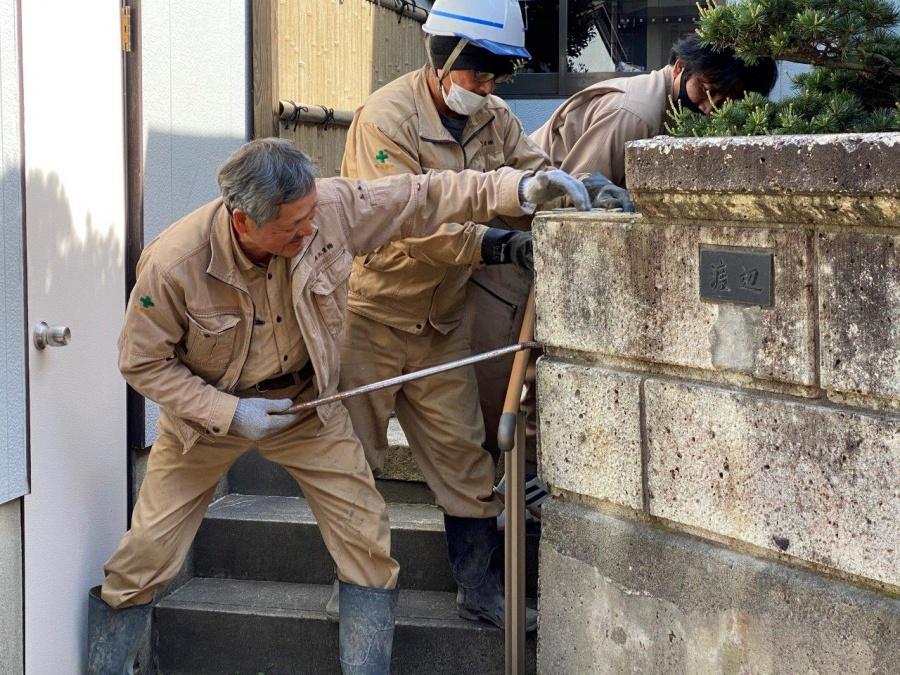 石塀解体工事