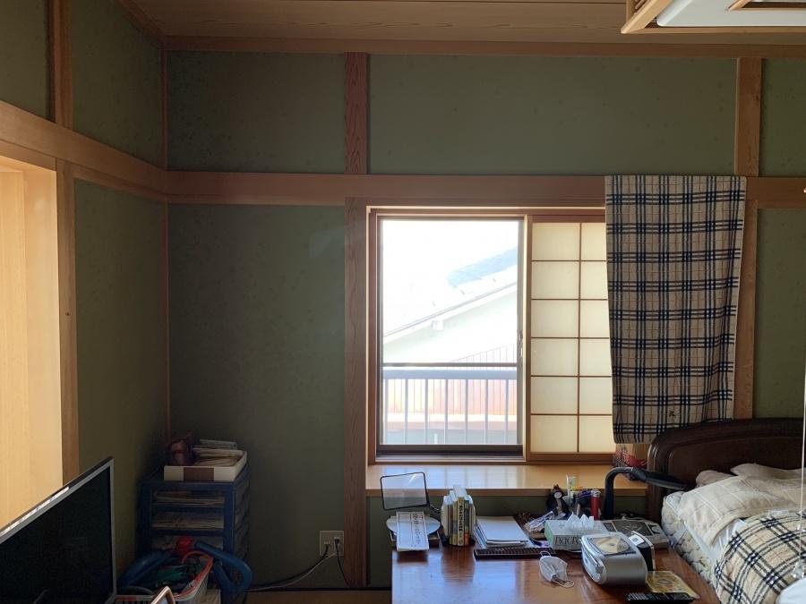 和室壁塗り替え左官工事