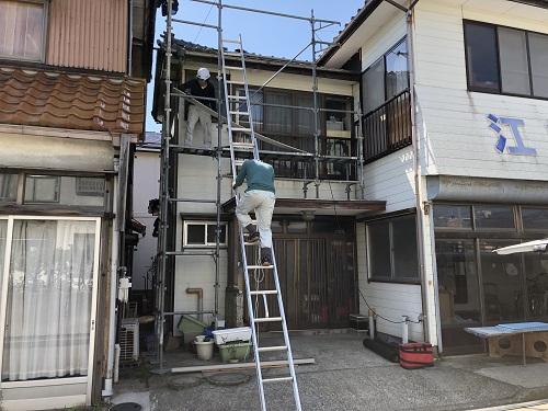 新潟市東区 仮設足場設置 落下防止