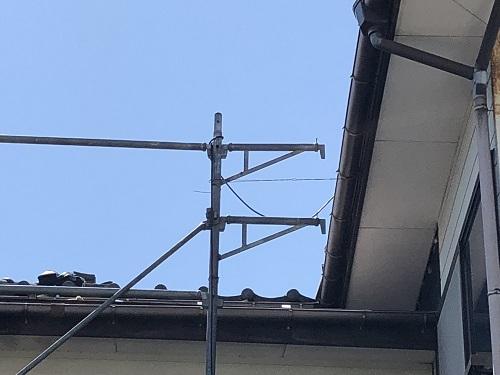 新潟市東区 落下防止 仮設足場設置