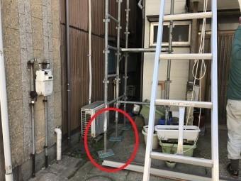 新潟市東区 仮設足場 養生 足