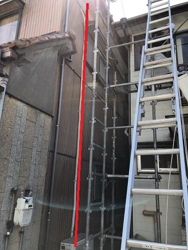 仮設足場設置 新潟市東区 ブラケット梯子