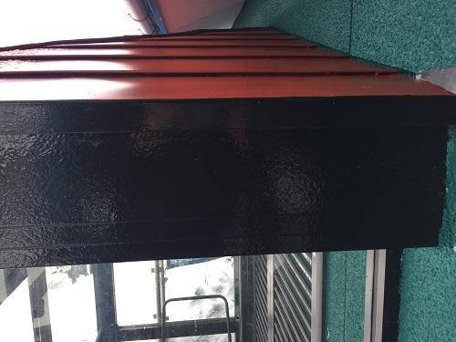 玄関 破風板 塗装