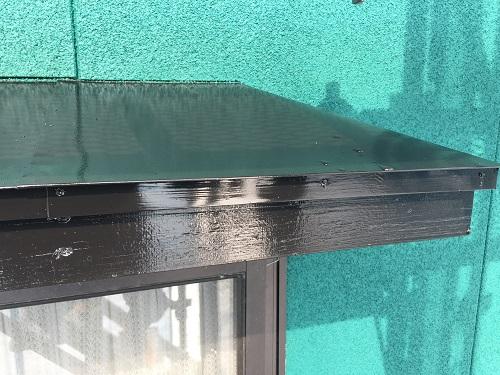 霧除け 破風板 塗装