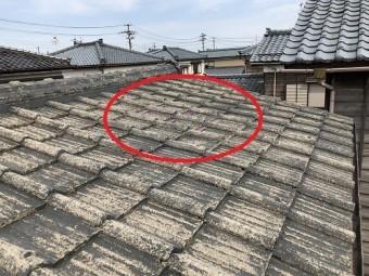 新潟県燕市 屋根 セメント瓦 S型