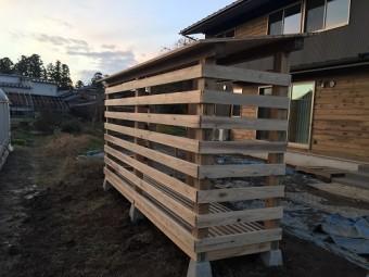 薪棚造作、屋根工事