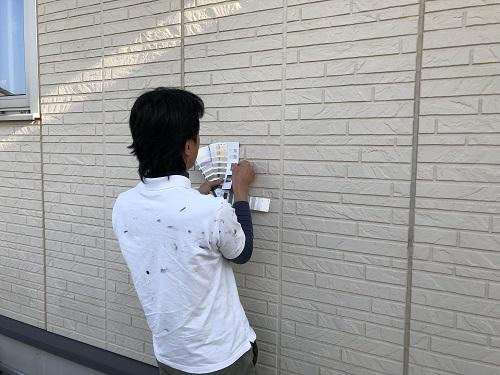新潟県三条市 外壁塗装 屋根塗装 色決め サンプル 現状比較
