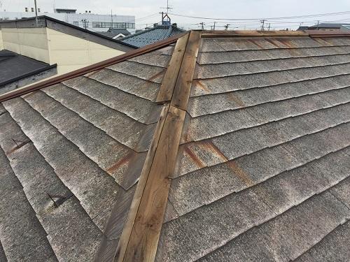 棟板金 旧吉田町 屋根 スレート屋根