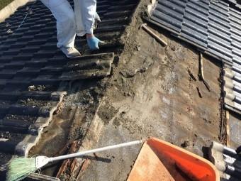 棟積み直し 雨漏り 解体