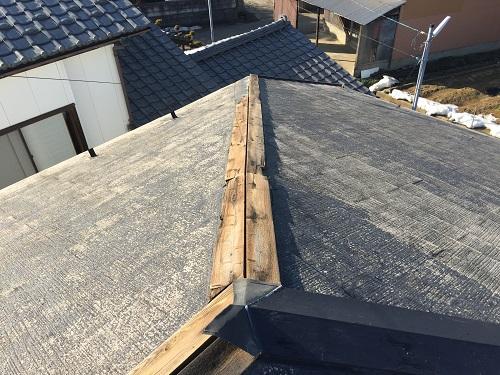 スレート屋根 棟板金 新潟市南区 強風 暴風 爆風