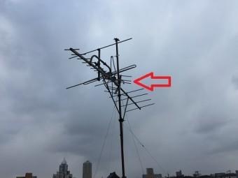 テレビアンテナ 破損 見積