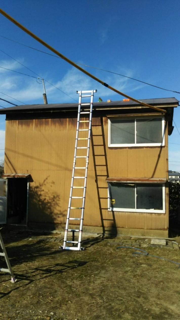 小屋の屋根工事