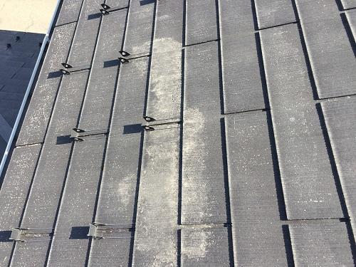 新潟県三条市 屋根点検 スレート瓦 かすれ 塗装剥がれ