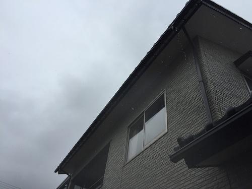 2階雨樋 軒樋 竪樋 雨だれ