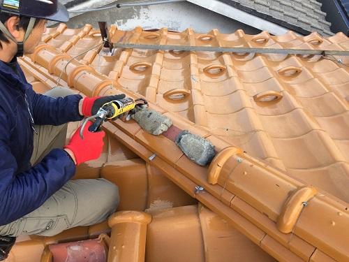 セメント 接着 新潟市東区 補修工事 屋根