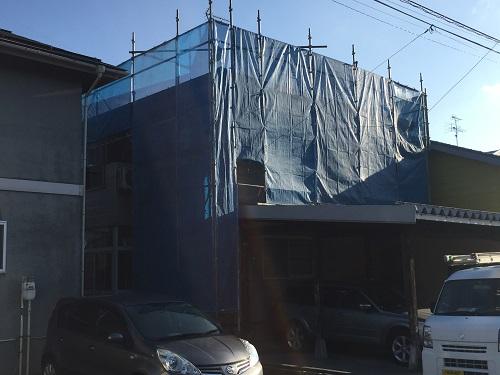 屋根工事 屋根カバーリング工事 足場