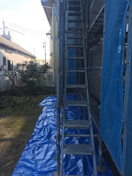 昇降機 足場 屋根工事