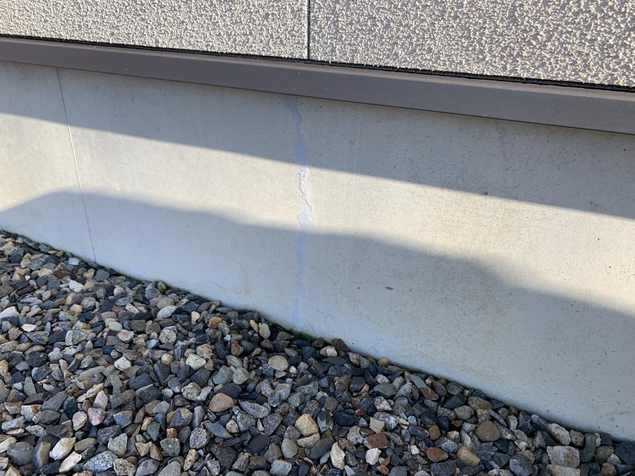 基礎コンクリート部クラック補修工事