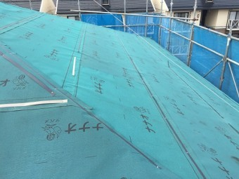 新潟市江南区 カバーリング やね 屋根 下葺き