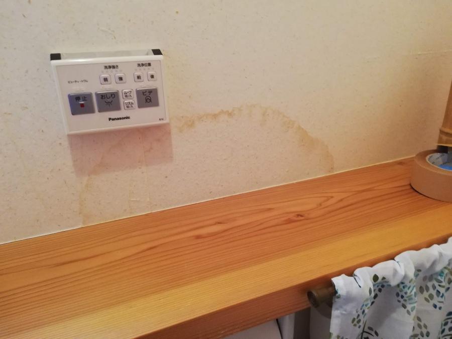 内壁に雨染みが出来たため雨漏りの疑い