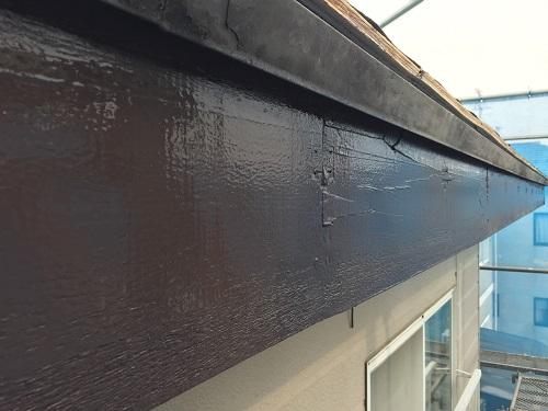 破風板 塗装 雨樋取付前 新潟市江南区
