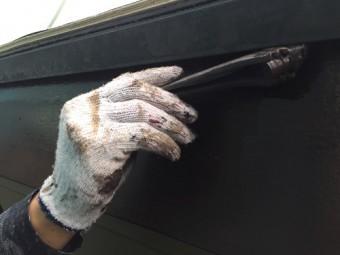 塗装 破風板委 新潟市江南区 刷毛 ウレタン塗装